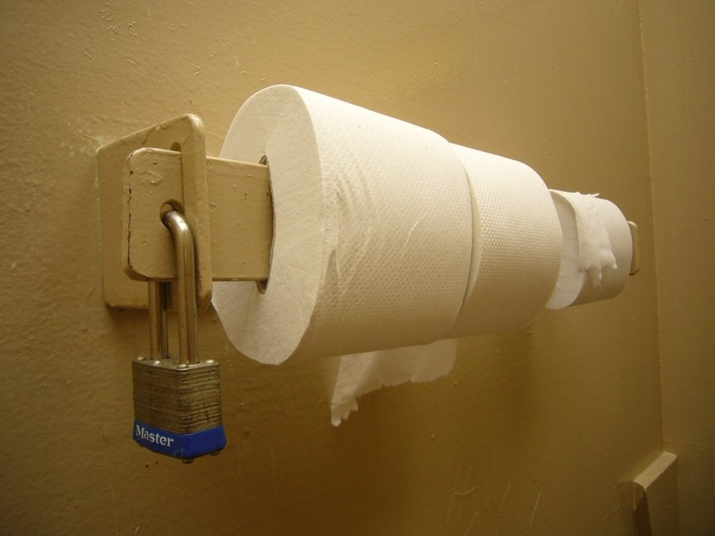 locked toilet paper