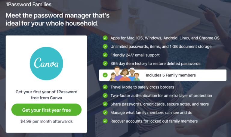 1Password Sign up