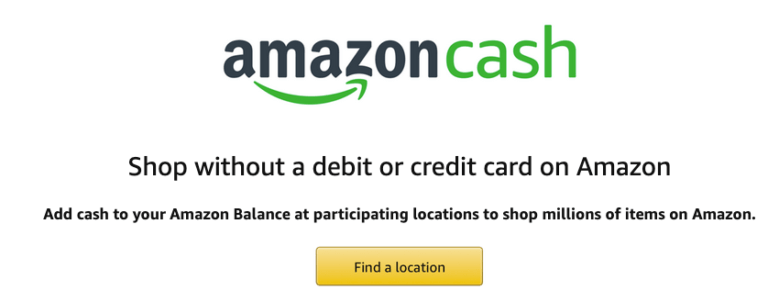 Amazon Cash Signup