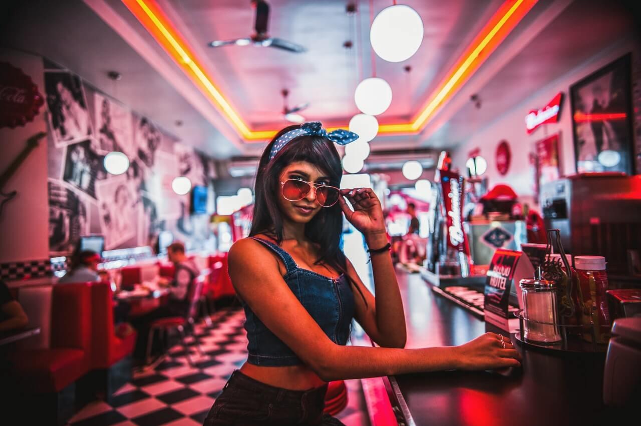 Girl in Diner