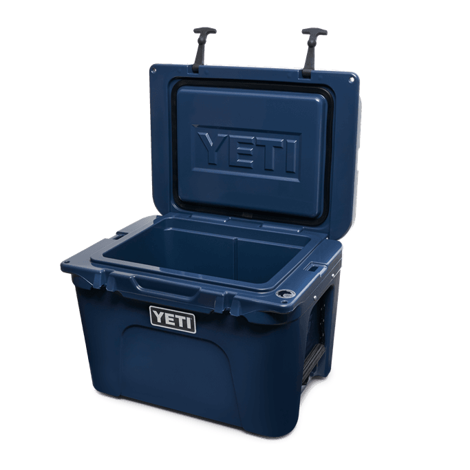 YETI Tundra Navy Blue Open