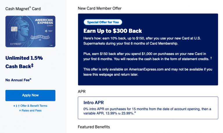Amex Cash Magnet