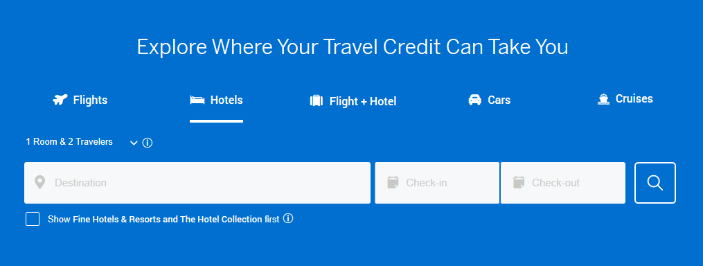 Search Travel Amex