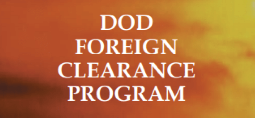 Foreign Clearance