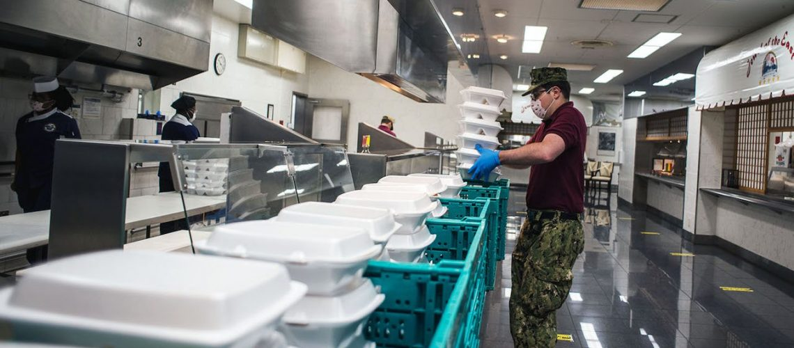 CFAY's Galley Prepares To-Go Meals for Sailors in ROM and Quarantine
