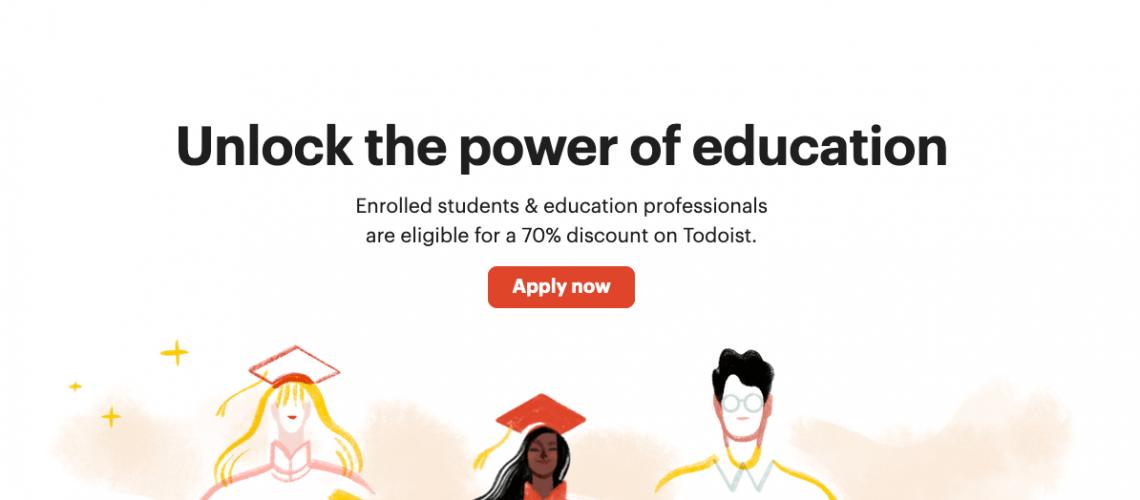 Todoist studend discount