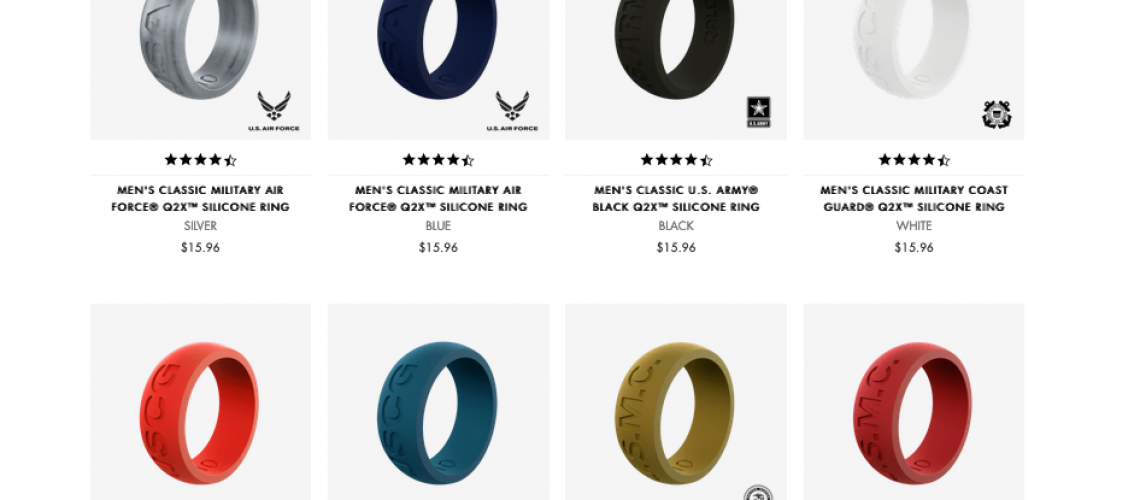Qalo Veteran's Day Rings