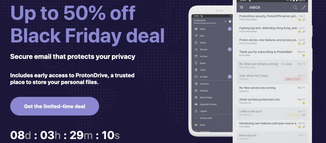 ProtonMail Black Friday