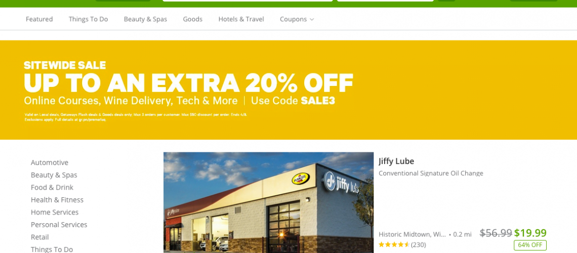 Groupon Oneday Deal
