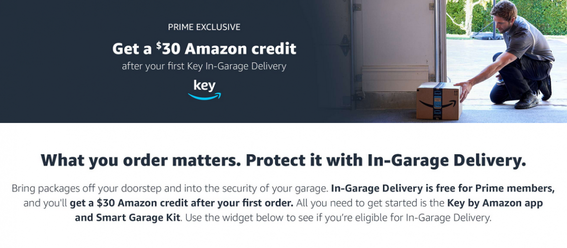 Amazon Key in-garage deal