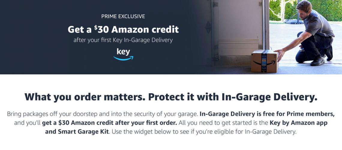 Amazon Key in-garage deal