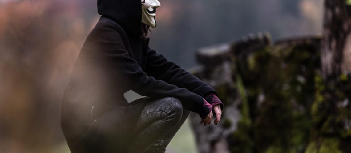 person in mask