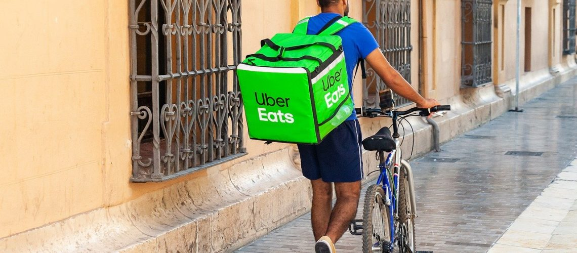 Uber Eats on Bike