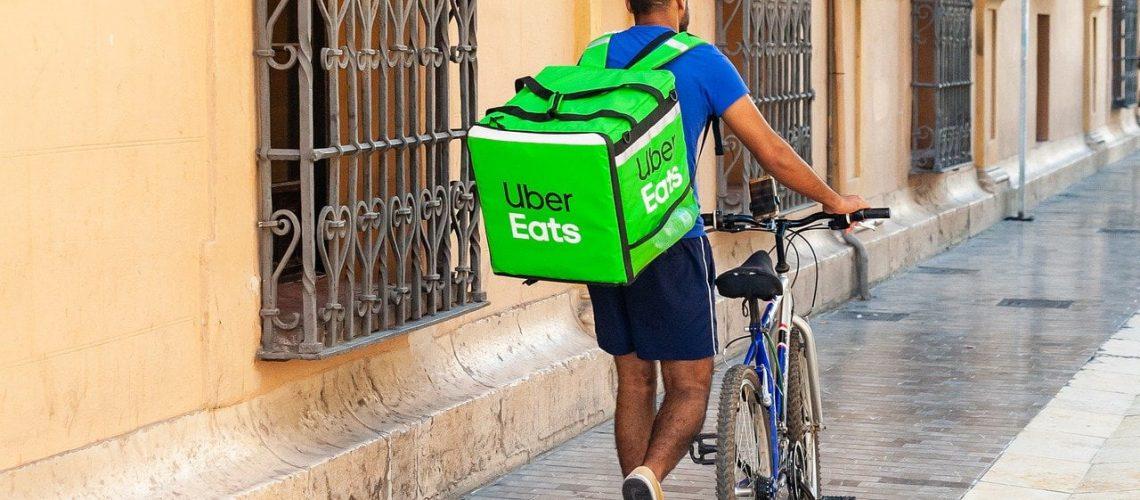 Uber Eats on Bike